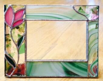 stained glass frame etsy. Black Bedroom Furniture Sets. Home Design Ideas