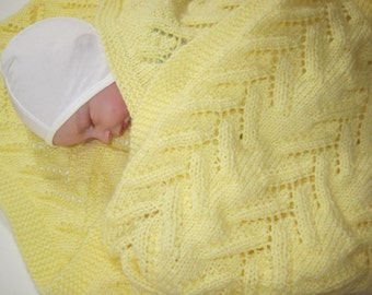 Newborn, Lacy, Hand Knitted, Baby Blanket, Baby Girl, Baby Boy, Baby Afghan, Baby Shower Gift