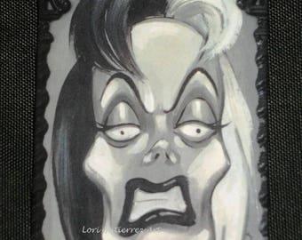 Lori Gutierrez OOAK Art - Cruella de Vil Magnet!!