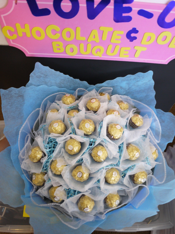 Birthdaywedding gift ferrero rocher chocolate flower bouquet zoom izmirmasajfo Images