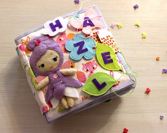 Busy book, Children's Quiet Book, Activity Book, Soft Toy, Montessori, Travel Toy, Personalized quite book, Book for girls