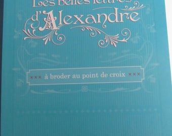 "Book ""The beautiful letters of Alexander"" cross stitch Embroidery"