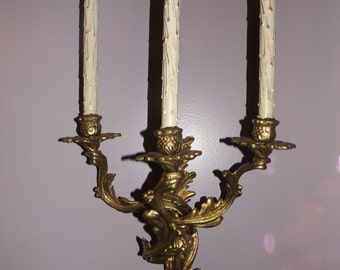 French Louis XV Style Bronze Sconce