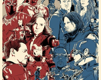 Captain America: Civil War - A4 Print / Poster
