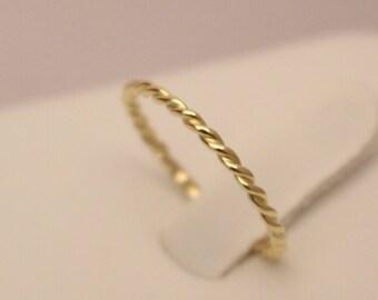 18k twisted ring, 18k braided ring, 18k thumb ring, 18k white gold ring, 14k wedding ring, 18k gold ring, 18k band ring, 18k rose gold ring