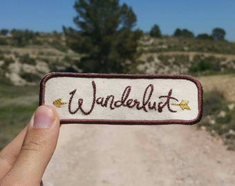 Wanderlust Adventure Patch Embroidered Travelling Badge Gap Year Summer Holiday Travel Explore Outdoors