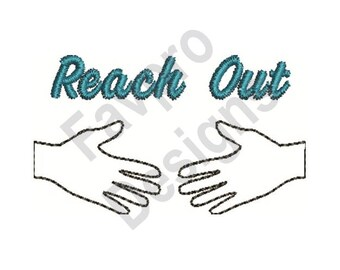 Reach Out - Machine Embroidery Design
