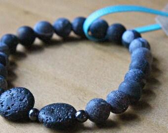 Agate & Lava Bead Essential Oil Diffuser Bracelet