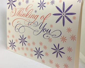 Thinking of You, Best Friend Card, Birthday Card, Positive Vibes, Encouragement Card, Stationery, Greeting Card, Calligraphy, Just Because