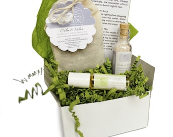 Bath Gift Set, Aromatherapy Gifts, Gift for Her, Birthday Gift, Body Care Gift, Bath and Body Gifts, Gifts for Women, Spa Gift Set, Bath Set