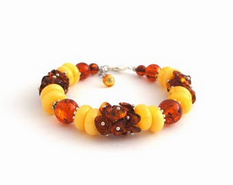 Honey Baltic Amber Bracelet Adult Yellow Genuine Amber Spiritual Healing Natural Amber Jewelry Therapeutic Butterscotch Amber Women Bracelet