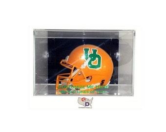 Custom Acrylic Wall Mount Mini Helmet Display Case UV Holder NFL NCAA Football Create Your Own Text