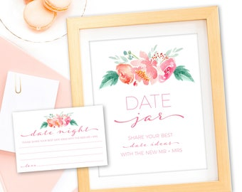 Date Night Cards - Date Night - Date Night Jar - Date Jar - Bridal Shower Sign - Bridal Shower Date Ideas - Date Night Ideas - Date Jar Sign