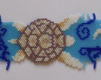 Albino Turtle Beded Bracelet