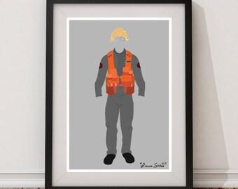 Matt The Radar Technician - minimalism matt kylo ren ben force awakens skywalker radar technician poster art print
