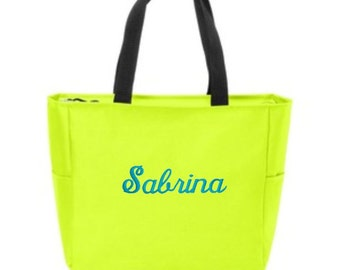 Tote Bags, Tote Bags for Women, Tote Bags for Work, Tote Bags Personalized, Zip Top Bag, Zip Top Tote Bags, Zip Top Tote, Personalized Gifts