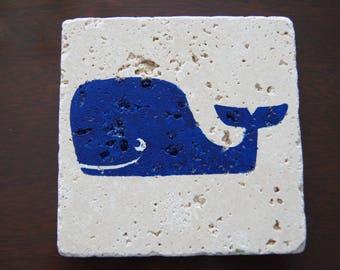 Whale Stone Coasters (Set of 4)