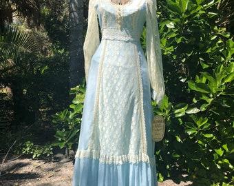Vintage gunne sax dress, prairie dress, vintage dress, blue gunne sax, hippie,boho, festival ,gunne sax 9