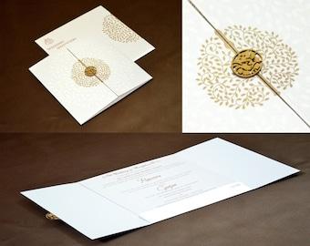 100 Personalised Designer Day Evening Save The Date Engagement Gate Folio Wedding Invitations