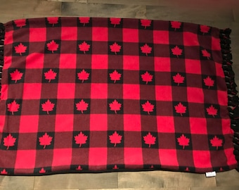 Adult Throw Blanket - Canadian Lumberjack fleece