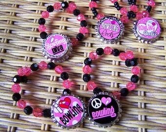 Girls Teens Bowling Team Birthday Party Favor Bracelet 15pk