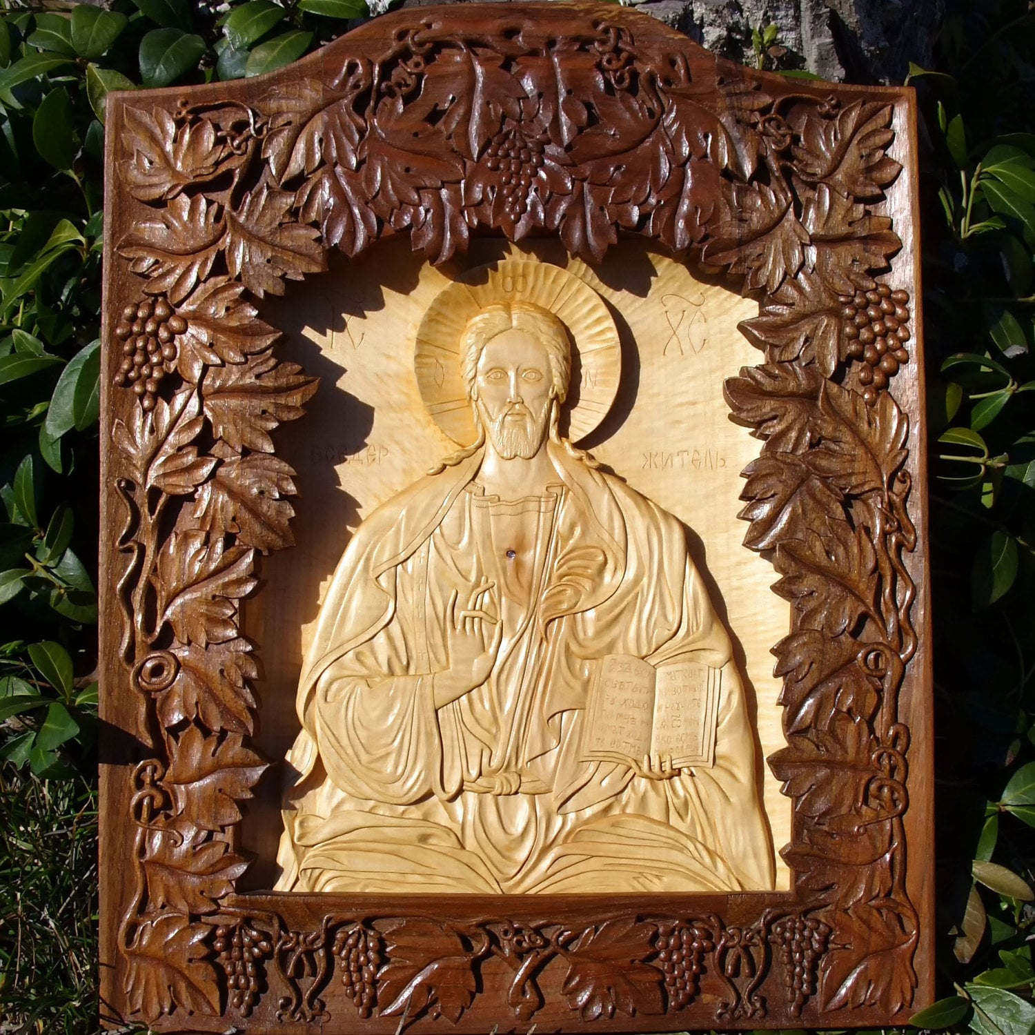 Jesus Christ Art Wood Carving Orthodox Christian Religious