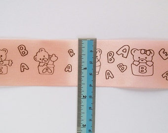 NEW 3M x 40mm Bear Printed Sun Color Ribbon 3M