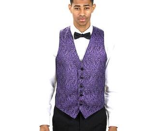 Men Purple Metallic Vest
