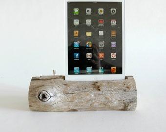 Docking Station, Driftwood iPad dock, iPad Charger, iPad mini Charging Station, driftwood ipad dock, wood ipad dock/ Driftwood- No. 366