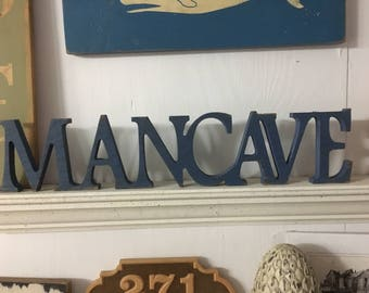 Man Cave sign,5x23,Wood Sign with Mancave,Mancave,signs for men,garage signs,cave signs,private places sign,macho signs,over the door signs
