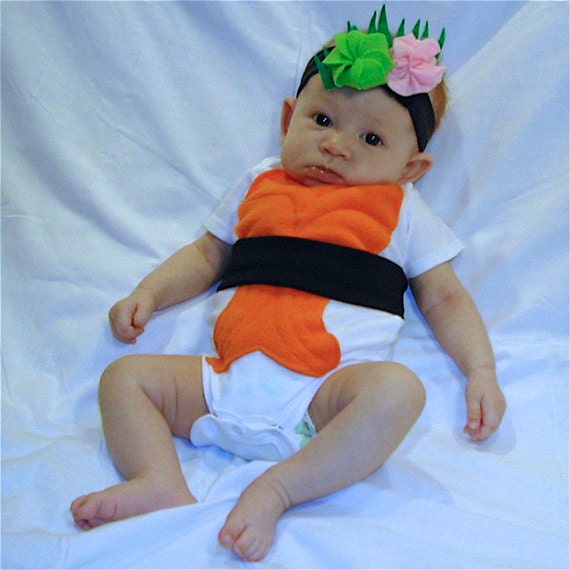 Diy do it yourself baby costume halloween costume sushi solutioingenieria Image collections