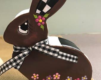 Chocolate painted bunny