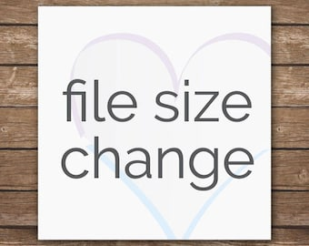 File Size Change - Customize File Size of Existing Design
