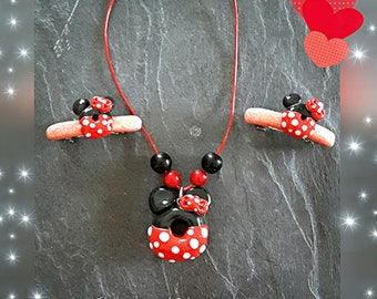 Adornment necklace and so cute hair clips