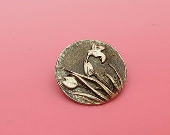 50% off Humming Bird and Tulip Pin - Bronze.