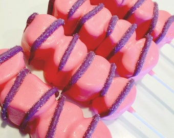 Cheshire Cat Tail marshmallows