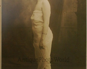 Beautiful actress in drapery antique photo