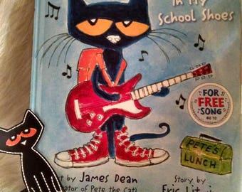 Pet the cat book with finger puppet   Pete the cat school shoes with finger puppet