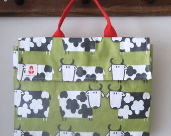 REDUCED Oilcloth School Book Bag