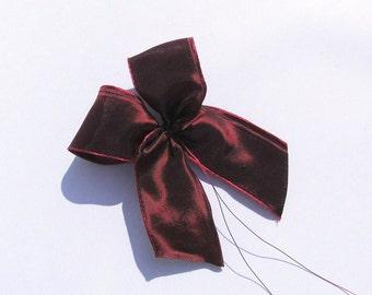 Loops (4 PCs.) Red florist Deco Kranzdeko Deco for garlands Dekoschleifen ribbon loop for garlands Dekoschleifen for wreaths