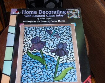 Plaid Home Decorating with Stained Glass Inlay Pattern & Instructions Book by Vicki Payne