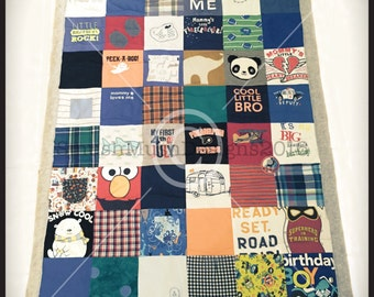 Baby Clothes Quilt/Custom Onsie Quilt/ Tee Shirt Quilt