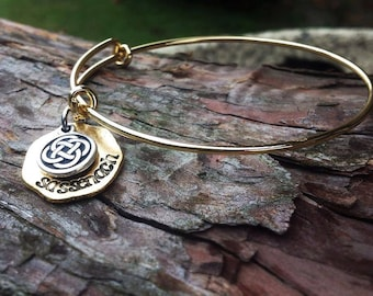 Hand Stamped Sassenach adjustable bracelet  - READY TO SHIP