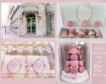 Paris Photography, Laduree Macarons Print Set, Paris Laduree Macarons Note Cards, Paris Photo Note Cards, Paris Photography Note Cards Set