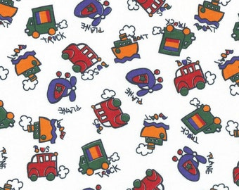 BABY TRANSPORTATION TOYs, Cotton Jersey Knit Fabric - Piece 15 inches long