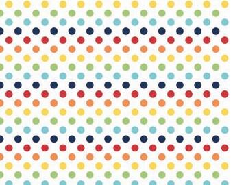 Small Dots Rainbow by Riley Blake Designs - Fat Quarter Cut - Cotton Fabric -