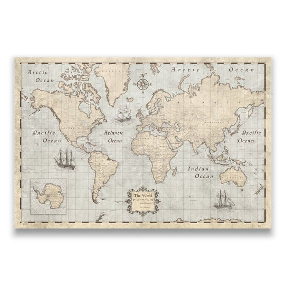 World travel push pin map rustic vintage cork pin board like this item gumiabroncs Gallery