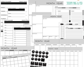 Editable planner | Etsy