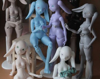 "Order BJD doll ooak polyurethane (resin) bunny of the ""Rio"" series. Ball-jointed doll."