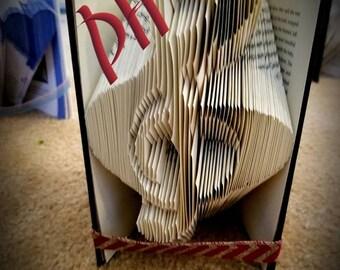 Music Note Folded Book Art